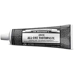 DR. BRONNER'S - Dentifrice à l'Anis - Bon pour Vos Dents - et la Planète! Nettoyage Doux - Sans Fluorure - Sans agents moussants synthétiques - 100% recyclable - 140 gr