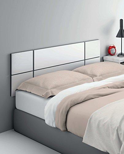 Cabezal cama de matrimonio de gran grosor 32MM, color blanco brillo ...