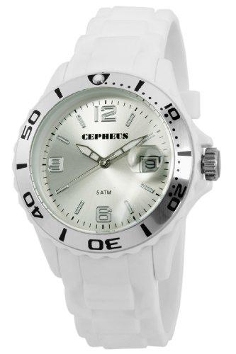 CEPHEUS Herren-Armbanduhr XL Analog Quarz Silikon CP603-586-1