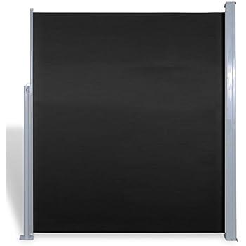 vidaxl terrasse seitenmarkise sichtschutz sonnenschutz markise 160x300cm schwarz. Black Bedroom Furniture Sets. Home Design Ideas