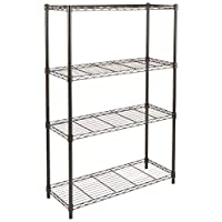 AmazonBasics 5-Shelf Shelving Unit, up to 160 kg per shelf, Black