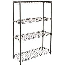 AmazonBasics 3-Shelf Shelving Unit, up to 115 kg per shelf, Black