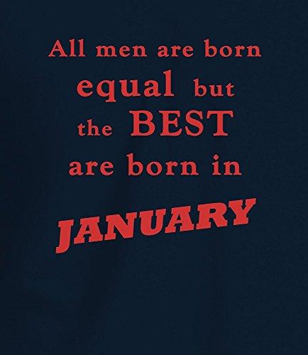 """Best Men are Born in January"" Geburtstagsgeschenk T-Shirt Marineblau Rot"