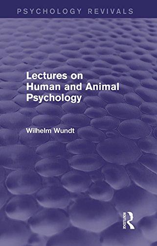 Lectures on Human and Animal Psychology (Psychology Revivals) por Wilhelm Wundt