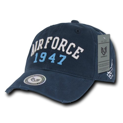 rapiddominance Air Force Vintage Athletic Cap, Navy Athletic Vintage Cap