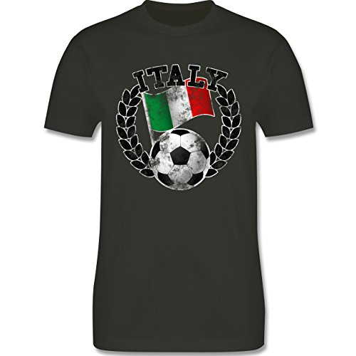 EM 2016 - Frankreich - Italy Flagge & Fußball Vintage - Herren Premium T-Shirt Army Grün