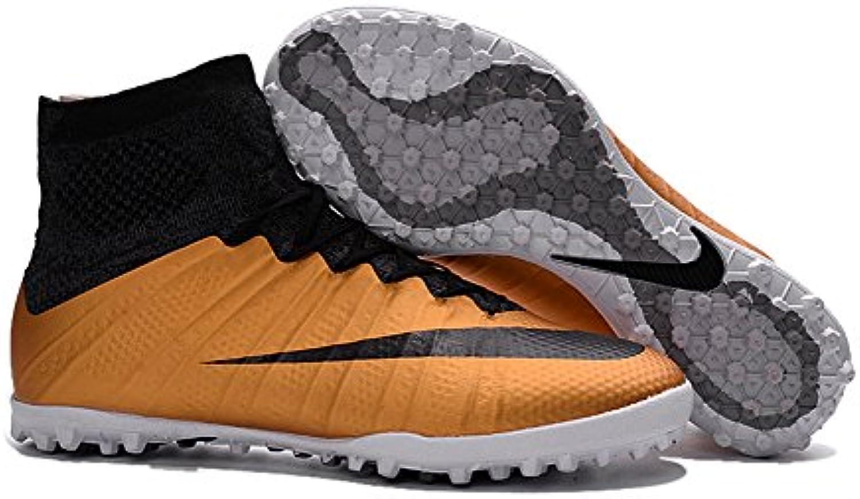 yurmery Schuhe Herren Fußball Soccer Gold mercurialx Proximo Street TF Stiefel