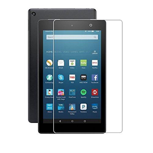 """(2pack) Amazon New Fire Tablet 7 """"Protecteur d'écran de 7 pouces, Protecteur d'écran en verre trempé pleine couverture pour Amazon Fire 7 Tablet (5e génération)"""