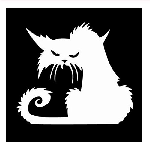 14,6 * 12,9 CM Halloween Terror Katze Fenster Aufkleber LustigeCartoon Auto Aufkleber Schwarz/Silber/3PCS (Lustig, Cartoons Halloween Sauber,)