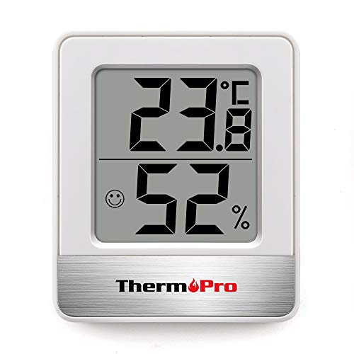 ThermoPro TP49 Mini Termómetro Higrómetro Digital Termohigrómetro de Interior Medidor de Temperatura...