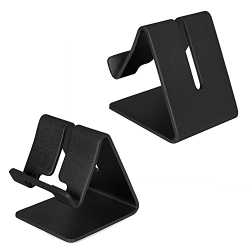 Universal Tragbar Aluminium Tablet Smartphone Ständer Handy Halter für iPhone Samsung Galaxy iPad LG die Meisten Tablet und Andere Smartphone, Schwarz Iphone 3 Gs Dock