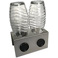 Abtropfhalter 2.0 aus Edelstahl für z.B. Sodastream Crystal / Source / Easy / Cool Flaschen Flaschenhalter