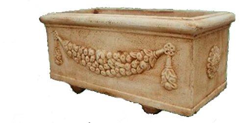 Vaso da giardino vasi fioriera in cemento cassetta festa grande - h cm 45x47x100