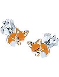Sleeping Fox Earrings - Sterling Silver
