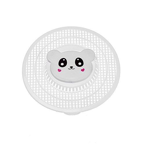 Affe Kawaii Cartoon Tiere Waschbecken Filter Silikon Abflusssieb Dusche Küche Spüle Badewanne Haarsieb (Weiß) (Tier Filter)