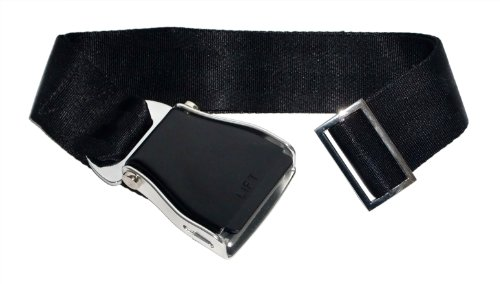 skybelt-avion-cinturon-negro-airline-seat-belt-