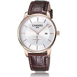 Man, quartz watch, casual, retro, PU leather, M0164