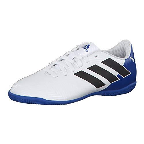adidas Unisex-Erwachsene Nemeziz Messi Tango 18.4 in J Futsalschuhe, Weiß (Ftwbla/Negbás/Fooblu 001), 38 2/3 EU