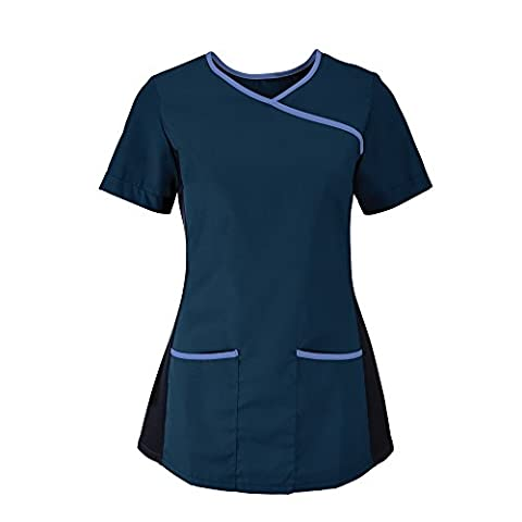 Alexandra Womens/Ladies Medical/Healthcare Stretch Scrub Top (M)