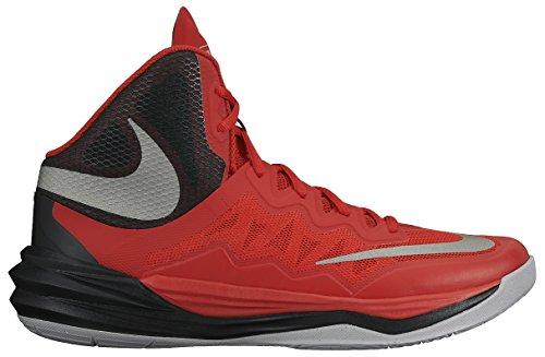 Nike Prime Hype DF II, Chaussures de Sport-Basketball Homme, Taille Multicolore - Rojo / Plata / Negro (Unvrsty Rd/Rflct Slvr-Blk-Wlf)