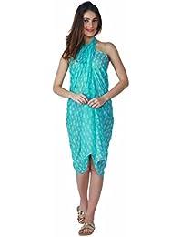 Emazing Deals Women's Cotton Sarong (Blue)