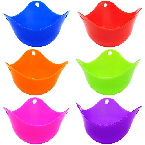6 PC Silikon-Ei-Wilderer-Schalen, SENHAI BPA geben Ei-Form-Ei-Kessel-Schalen im Herd Mikrowellen-Ofen frei (Keramik-pfanne Für Toaster)