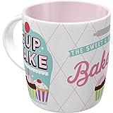 Nostalgic-Art 43046 Retro Kaffee-Becher Cupcake-Bakery, Große Tasse mit Nostalgie-Motiv, Geschenk-Idee für Vintage-Liebhaber, 330 ml
