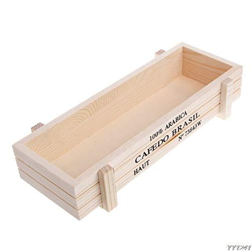 Yichener Garten Pflanztopf Deko Vintage Sukkulenten Holzkisten Kisten rechteckig Tisch Blumentopf Gartengerät W110 - Groß Pet-kiste-tisch