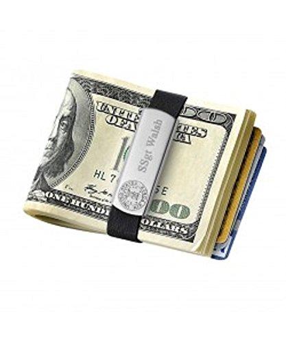 Budd Leder Edelstahl Geld Clip Wallet (gb9100AF) (Air-force-geld-clip)