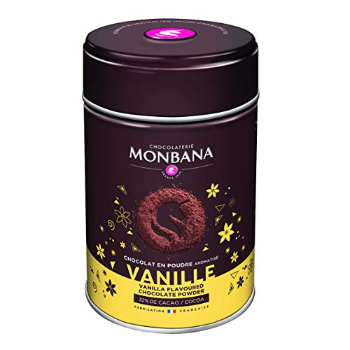 Monbana Chocolat Poudre Vanille 250 g (min. 32% Cacao), 1er Pack (1 x 250 g)