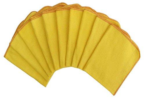 Lushomes Super Weiche Flanell Gelb Küchentuch Duster-Größe Verfügbar