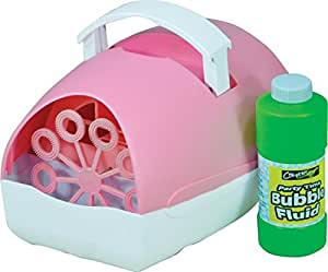 Cheetah Party Time Battery Operated Bubble Machine Pink