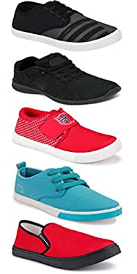 WORLD WEAR FOOTWEAR Sports Running Shoes/Casual/Sneakers/Loafers Shoes for MenMulticolors (Combo-(5)-1219-1221-1140-725-1024)