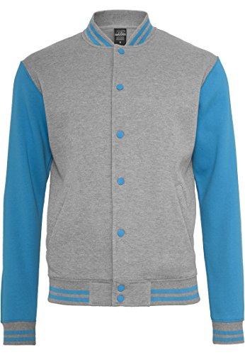 Preisvergleich Produktbild Urban Classics 2-tone College Sweatjacket (2) TB207,  Farbe:black / black;Größe:3XL