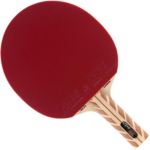 Atemi 5000 Tischtennisschläger (Kohlefaser/Balsaholz) Profi Tischtennisschläger für maximale Geschwindigkeit, Rotation und Kontrolle | Anfängerfreundlich, geeignet für Wettkampf | 7 Schichten (Anat.)