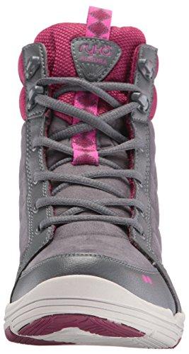 Ryka Womens Aurora Fashion Sneaker Grey/Wine/Pink