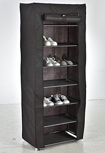 Iseaa scarpiera salvaspazio scaffale a 7 ripiani a capazita fino a 21 paia di scarpe cabina guarderobaportascarpe mobiletto armadio in tessuto impermeabile 50x28x107 cm