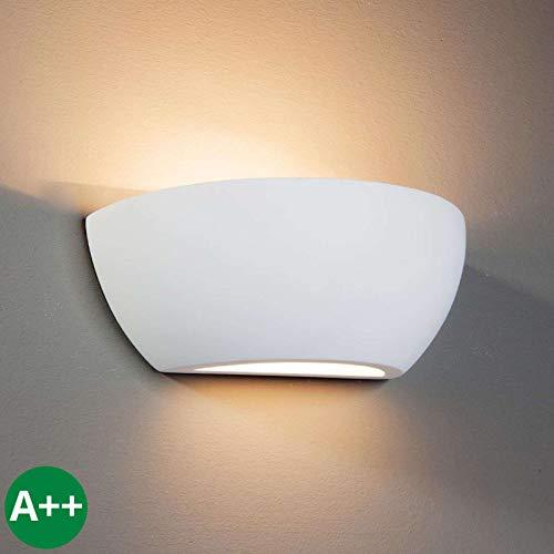 Aplique 'Felia' Moderno en Blanco hecho de Cerámica, Arcilla, Yeso e.o. para Salón & Comedor 1...