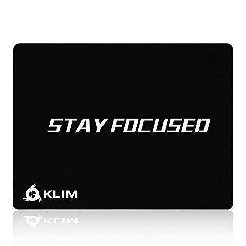 KLIM Stay Focused Tapis de Souris Haute Qualité - Anti Dérapant - Excellente Glisse - Durable - Précision Parfaite pour Gaming - 32 x 27 x 0,3cm