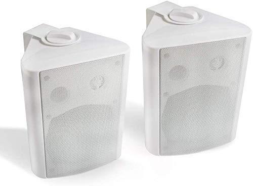 Herdio 5,25 Zoll 200 Watt Außenlautsprecher Outdoor-Lautsprecher für Outdoor Indoor Wandhalterung Patio Deck Camper Garten, Terrasse, Restaurant