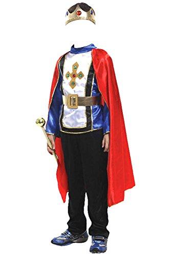 Prinz Mittelalter Kostüm - Joyplay Mittelalter Prinz Kostüm Kinderkostüm König mit Krone Adeliger Ritter Königssohn Verkleidung Märchenprinz Tunika mit Umhang Karnevalskostüm Jungen