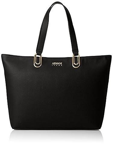 Armani Jeans Borsa Shopping, Cabas femme, Schwarz (Nero), 30x12x46 cm (B x H T)