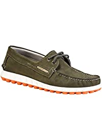 Woodland Men's Olive Green Nubuck Leather Air Bridge Casual Shoes (GC 2464117)