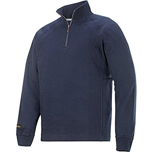 Snickers 1/2 Zip Sweatshirt Chili Gr. M Navy