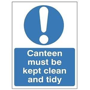Einerseits CANTEEN muss sauber und aufgeräumt werden 150 x 200 starrem Kunststoff