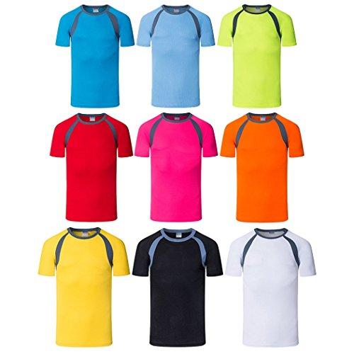 Dehutin Uomini All'aperto Asciugatura veloce Manica corta T-shirt Escursionismo Fitness Atletico Sport Camicia Rosa rossa
