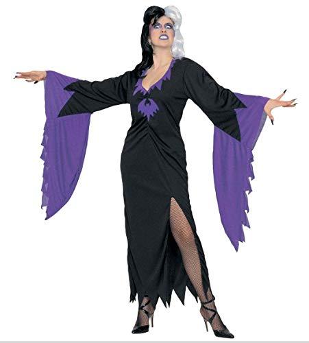 (WIDMANN 3151r–Kleid Hexe 'Mortisia' in Größe XL)