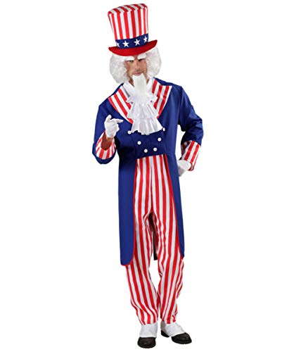 Horror-Shop USA Flagge Uncle Sam Amerika Kostüm für Fasching & USA-Partys L