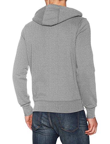 Tommy Hilfiger Core Cotton Zip Hoodie, Felpa Uomo Grigio (Cloud Htr 501)