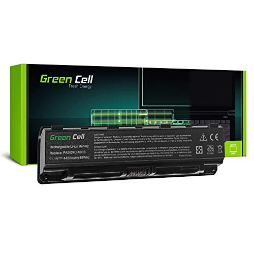 Green Cell® Standard Serie PA5024U-1BRS Akku für Toshiba Satellite C850 C850D C855 C870 L850 L855 L870 (6 Zellen 4400mAh 11.1V Schwarz)